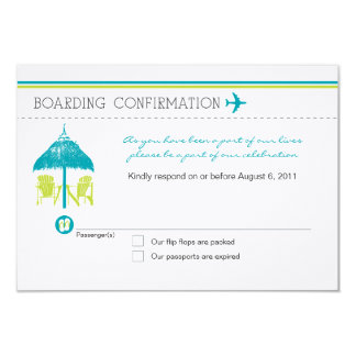 Boarding Pass RSVP Card 9 Cm X 13 Cm Invitation Card