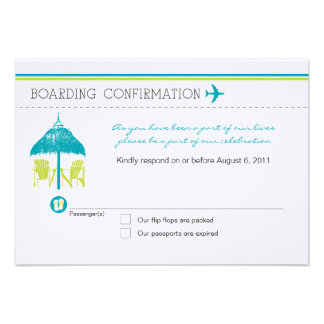 Boarding Pass RSVP Card Invitations