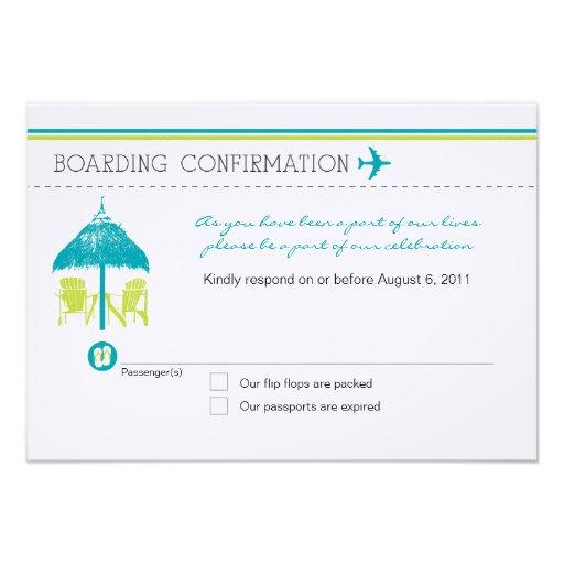 Boarding Pass RSVP Card Invitations