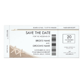 Boarding Pass Save the Date Invitations