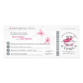 Boarding Pass to Cyprus Wedding Invitation
