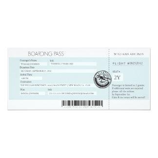 Boarding Pass (Today's Best Award) 10 Cm X 24 Cm Invitation Card