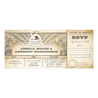 boarding pass wedding flight tickets- invitations