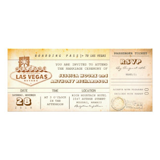 boarding pass wedding tickets-invitation LAS VEGAS