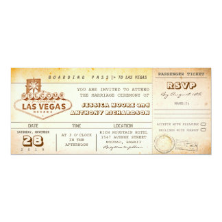 boarding pass wedding tickets-invitation LAS VEGAS 10 Cm X 24 Cm Invitation Card