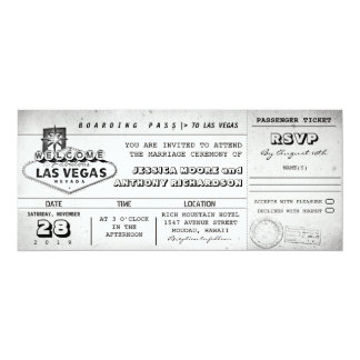 boarding pass wedding tickets LAS VEGAS Card