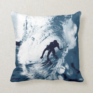 Boarding Trybe Tube, Hawaiian Surf Graphic Throw Pillow