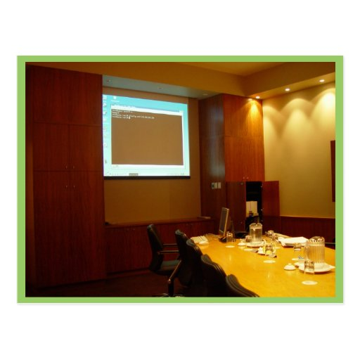 Boardroom With Projector Display Post Cards