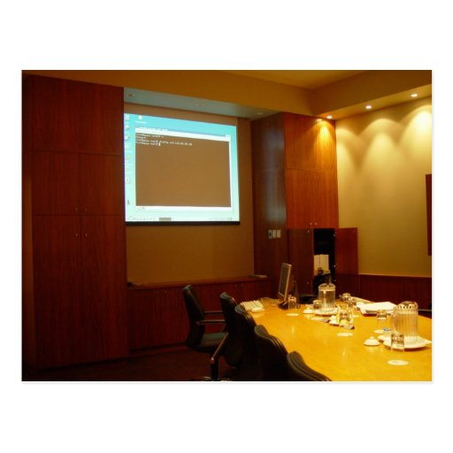 Boardroom With Projector Display Post Card
