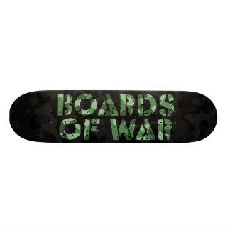 Boards Of War Black and Green Camo Logo Deck Skate Board