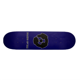 Boards Of War Blue Nuke Logo Deck Custom Skate Board