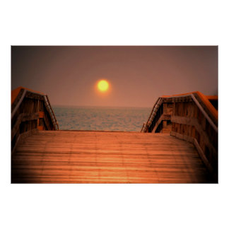 Boards to an Atlantic Sunrise Poster