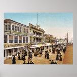 Boardwalk at Atlantic City, 1900 Poster