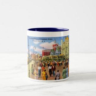 Boardwalk, Atlantic City Vintage Two-Tone Mug
