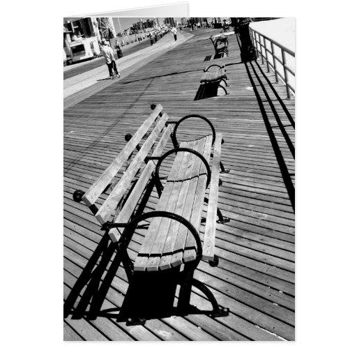 'Boardwalk Benches'  Blank Greeting Card