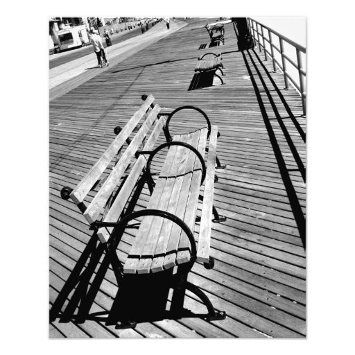 'Boardwalk Benches' Photographic Print
