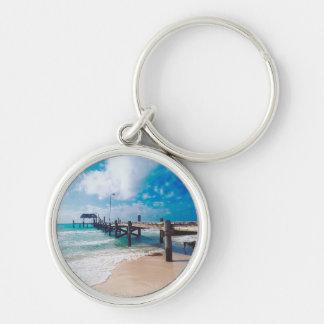 Boardwalk By The Sea Key Ring