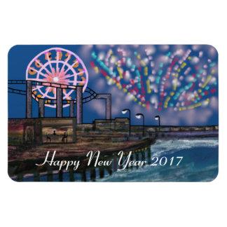 Boardwalk Fireworks New Year Magnet