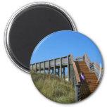 Boardwalk, Florida, Cape San Bur beach picture Fridge Magnets