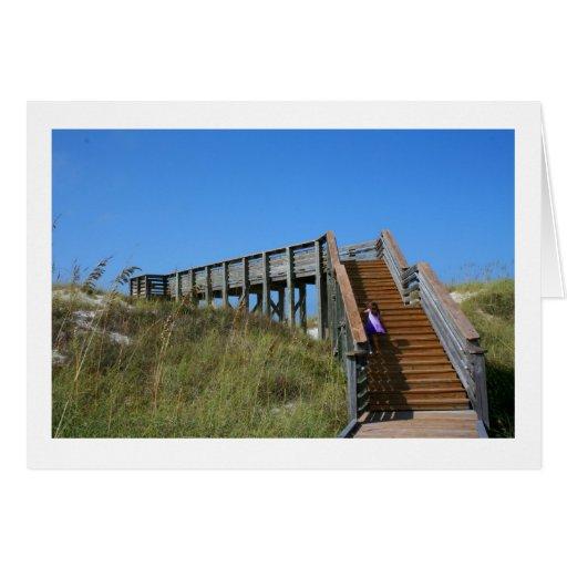 Boardwalk, Florida, Cape San Bur beach picture Note Card