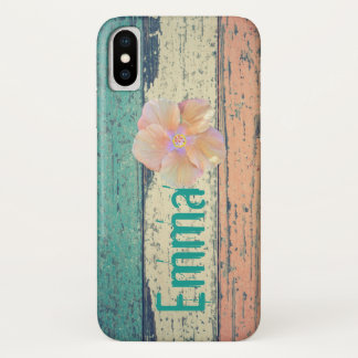 Boardwalk, hibiscus phone case