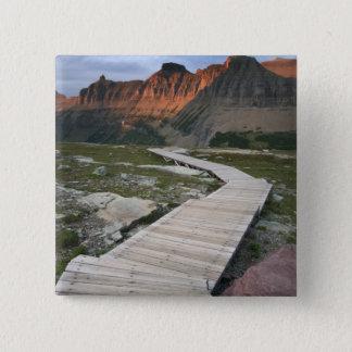 Boardwalk in Waterton Glacier International 15 Cm Square Badge