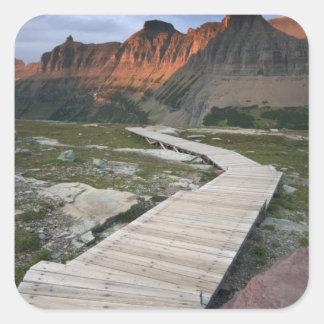 Boardwalk in Waterton Glacier International Square Sticker