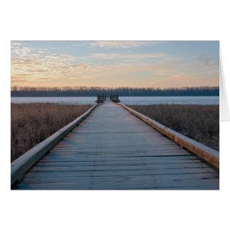 Boardwalk River and Wetlands at Sunrise Card