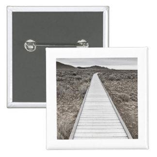 Boardwalk through the desert 15 cm square badge