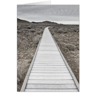 Boardwalk through the desert card