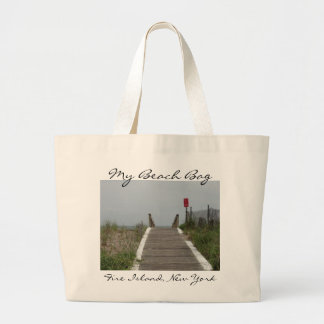 Boardwalk to the Beach Large Tote Bag