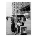 Boardwalk Transport: 1905 Postcard