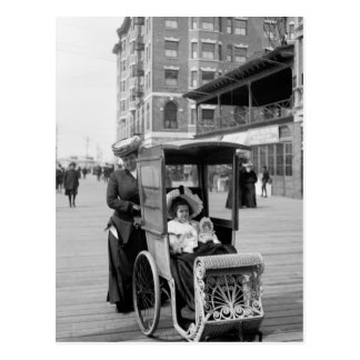 Boardwalk Transport: 1905 Postcard