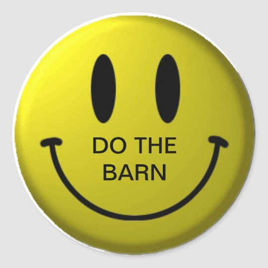 BOARDY BARN TIME CLASSIC ROUND STICKER
