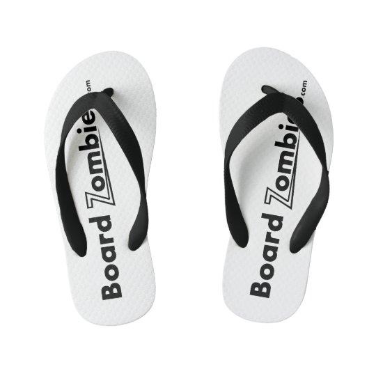 BoardZombies Flip Flop Black White Foot Wear