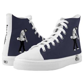 BoardZombies Walk Hi Top White Grey Foot Wear Printed Shoes