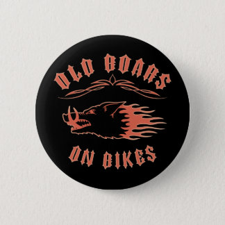 Boars on Bikes 6 Cm Round Badge