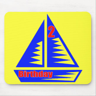 Boat 2nd Birthday Gifts Mouse Pad