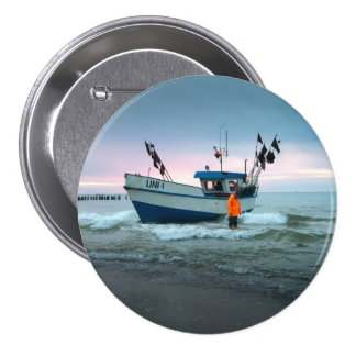 boat 7.5 cm round badge
