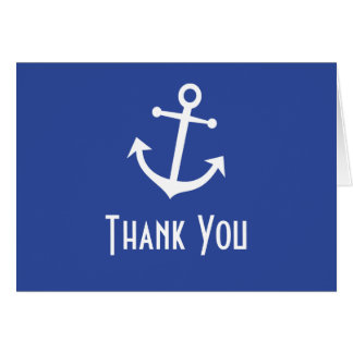 Boat Anchor Thank You Note Cards (Navy Blue)