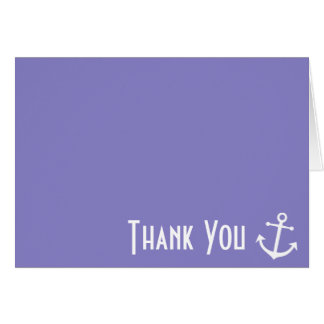 Boat Anchor Thank You Note Cards (Purple)