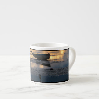 Boat and Heron Espresso Mug