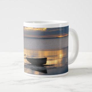 Boat and Heron Jumbo Mug