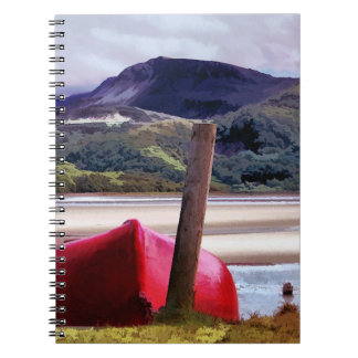 BOAT AND MOUNTAIN LANDSCAPE NOTEBOOKS