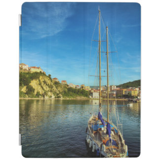 Boat Approaching Shore   Agropoli iPad Cover