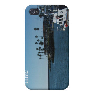 Boat at Oceanside (customize) Covers For iPhone 4
