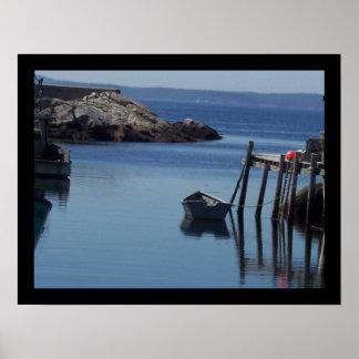 Boat at Peggy's Cove, Nova Scotia CA Poster