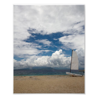 Boat at South Sea Island, Fiji Art Photo