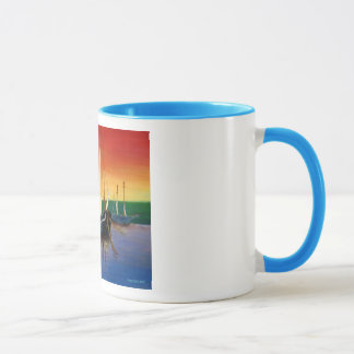 Boat at Sunrise Mug
