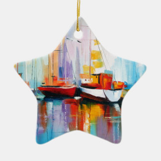 Boat berth christmas ornament